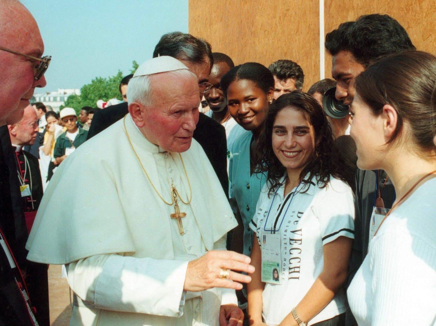 Jean-Paul II avec les gens