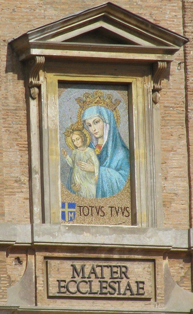 Marie Mosaïque Mater Ecclesiae palais épiscopal